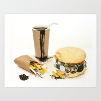 junk food Art Prints featuring Junk Food by Rem N
