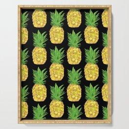 Pineapple Pop Black Serving Tray