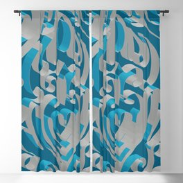 3D Abstract Ornamental Background II Blackout Curtain