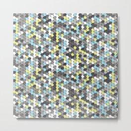 Silver mosaic Metal Print