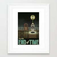 chrono trigger Framed Art Prints featuring Chrono Trigger End of Time Travel Poster by The Retro Videogamers