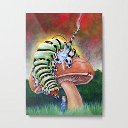 Smoking Caterpillar - Alice in Wonderland Metal Print