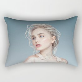 Woman in pastel Rectangular Pillow