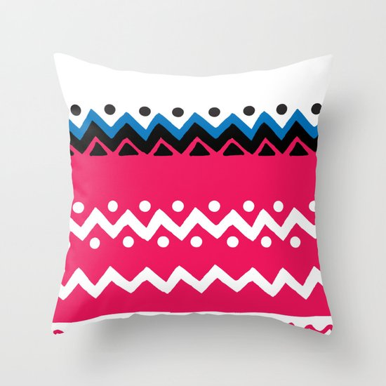 Polygons shape Throw Pillow