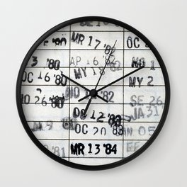 Date Due #1 Wall Clock