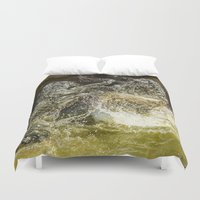 tigers Duvet Covers featuring fighting Tigers by Kevin Baxter