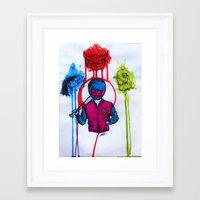 hotline miami Framed Art Prints featuring hotline miami art by Jacks broken art