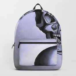 Silver Skull Backpack