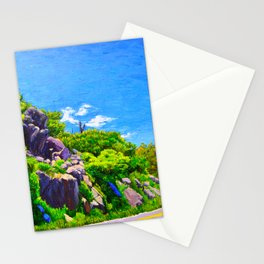 Curved road on the Skyline Drive Stationery Cards