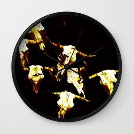 Buoi Skulls Wall Clock