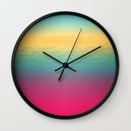 Summer Popsicle Gradient Wall Clock