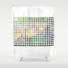 Georges Seurat Remixed (2009) Shower Curtain