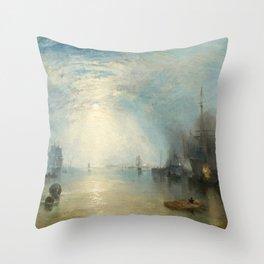 "J.M.W. Turner ""Keelmen Heaving in Coals by Moonlight"" Throw Pillow"