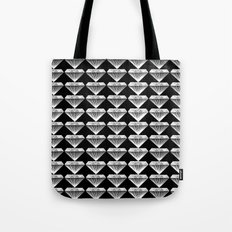 Diamonds Pattern - Black and White and Grey Tote Bag