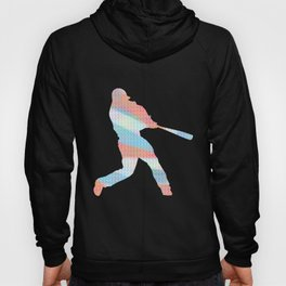 Baseball Batting Red White And Blue Hoody