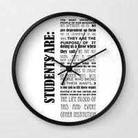 teacher Wall Clocks featuring Teacher Appreciation by FountainheadLtd