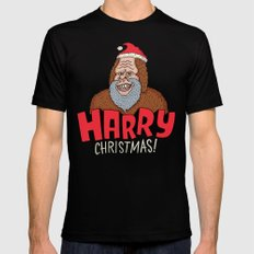 Harry Christmas! Black Mens Fitted Tee MEDIUM
