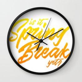 Is it Spring Break yet? Wall Clock