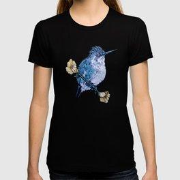 L'il Lard Butt Bee Hummingbird on Mallow flower T-shirt