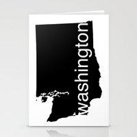 washington Stationery Cards featuring Washington by Isabel Moreno-Garcia