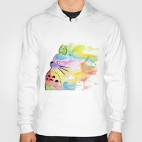 rainbow Hoodies featuring My Rainbow Totoro by scoobtoobins
