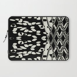 Black and Gray  abstract art Laptop Sleeve