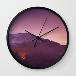 Cold Winters Night Wall Clock