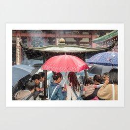 Senso-Ji Shower Art Print