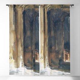 12,000pixel-500dpi - John Singer Sargent - Cathedral Interior - Digital Remastered Edition Blackout Curtain