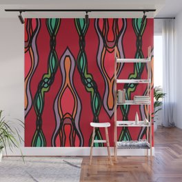 Red Strand Twist Wall Mural