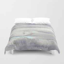 Stormy Weather with Blue Sky Duvet Cover