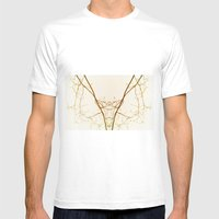 branches#01 Mens Fitted Tee White MEDIUM