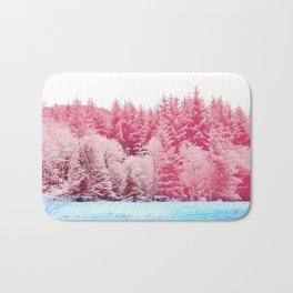 Candy pine trees Bath Mat