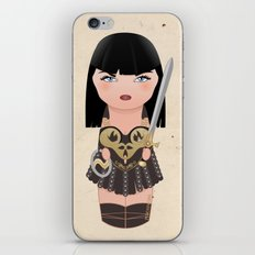 Kokeshi Xena, warrior princess iPhone & iPod Skin