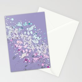 Abstract Splatter Print in Lilacs, pinks and purples Stationery Cards