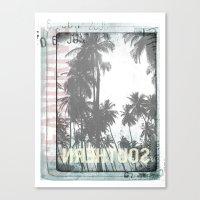 tropical Canvas Prints featuring tropical by ulas okuyucu