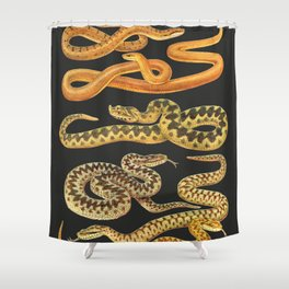 Snakes at Night Shower Curtain