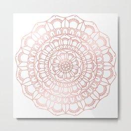 Rose Gold Boho Mandala Metal Print
