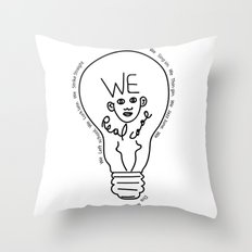 we real cool Throw Pillow