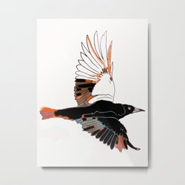 BlackbirdFlies - Ria Loader Metal Print
