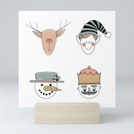 Santa's Squad Mini Art Print