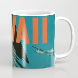 Surfing Hawaii - Jet Clippers to Hawaii Vintage Travel Poster Coffee Mug