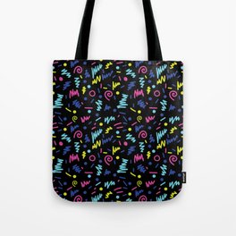Vicky - 80s, 90s, bright neon, shapes, design, pattern, trendy, hipster, memphis design Tote Bag