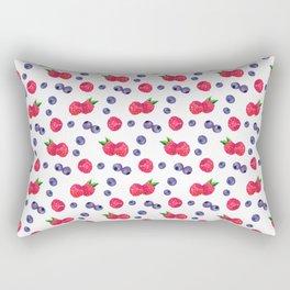 Watercolor Berries Rectangular Pillow