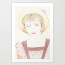 picnic girl Art Print