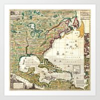 Map of the British Empire in America 1773  Art Print