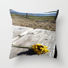 flower by the sea Throw Pillow