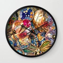 Ruby Liberty Dragonfly Wall Clock