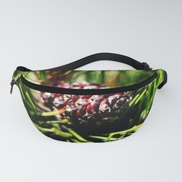 Pine tree branch and pine cone Fanny Pack