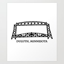 Duluth, MN Aerial Lift Bridge Art Print